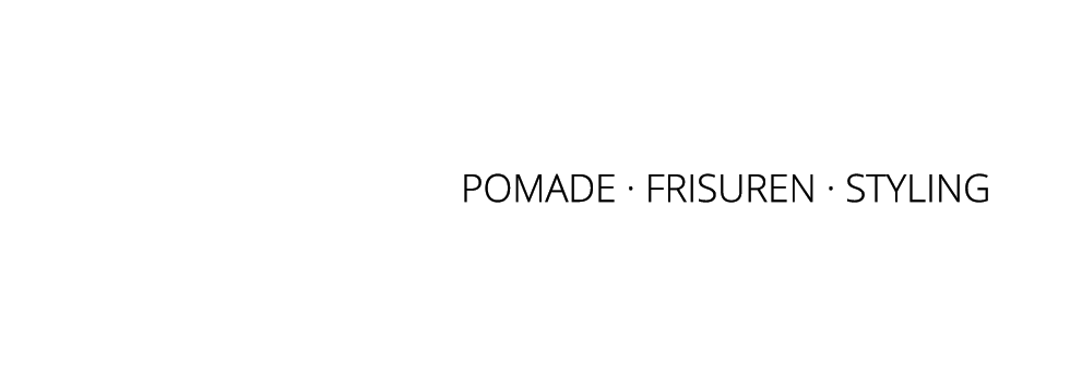 pomadoro - Frisurenstyling mit Pomade