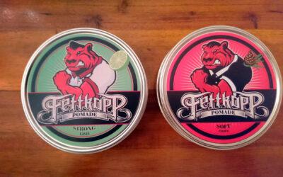 Neue Fettkopp Pomaden: Fettkopp Pomade Soft – Zirbeli & Fettkopp Pomade Strong – Lime